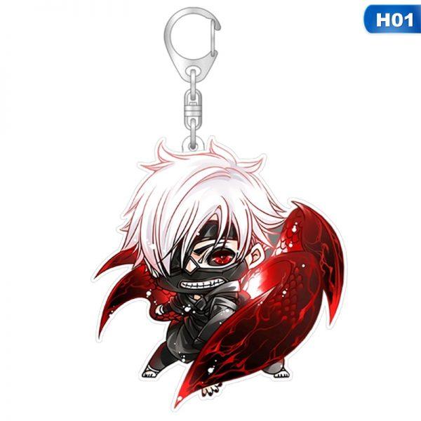1pcs Tokyo Ghoul Keychain Kaneki Ken Key Chain Pendant Acrylic Anime Accessories Cartoon Key Ring 1 - Tokyo Ghoul Merch Store