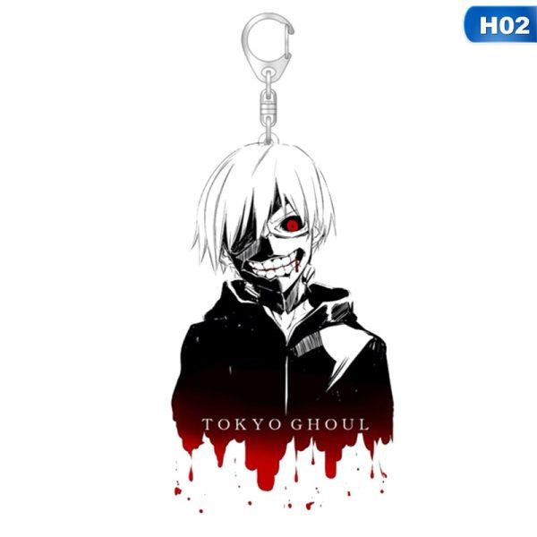 1pcs Tokyo Ghoul Keychain Kaneki Ken Key Chain Pendant Acrylic Anime Accessories Cartoon Key Ring 2 - Tokyo Ghoul Merch Store