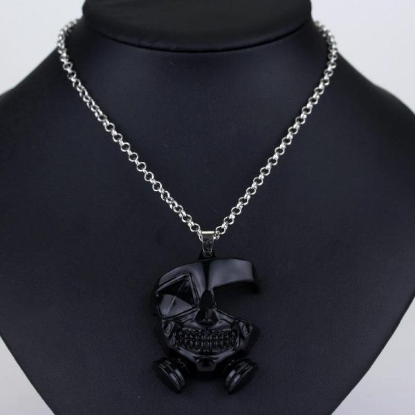 Anime Tokyo Ghoul Necklace Kanek Ken Cosplay Pendant Necklace Long Chain Accessories Men Halloween Gifts 1 - Tokyo Ghoul Merch Store