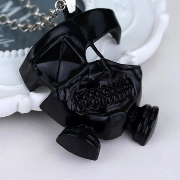 Anime Tokyo Ghoul Necklace Kanek Ken Cosplay Pendant Necklace Long Chain Accessories Men Halloween Gifts 4 - Tokyo Ghoul Merch Store