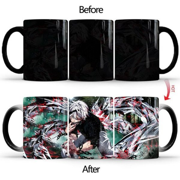 Drop Shipping 1Pcs New 350ml Tokyo Ghoul Magic Color Changing Mugs Ceramic Coffee Milk Tea Cups 2.jpg 640x640 2 - Tokyo Ghoul Merch Store