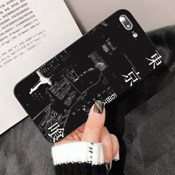 FHNBLJ Tokyo Ghoul Anime Soft Silicone Black Phone Case For iphone 12pro max 8 7 6 1 - Tokyo Ghoul Merch Store