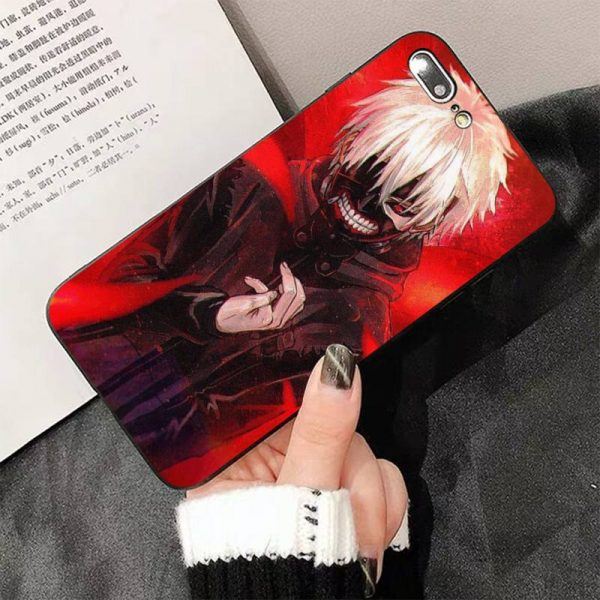 FHNBLJ Tokyo Ghoul Anime Soft Silicone Black Phone Case For iphone 12pro max 8 7 6 2 - Tokyo Ghoul Merch Store