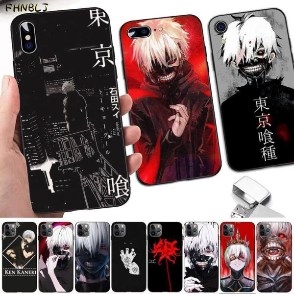 FHNBLJ Tokyo Ghoul Anime Soft Silicone Black Phone Case For iphone 12pro max 8 7 6 - Tokyo Ghoul Merch Store