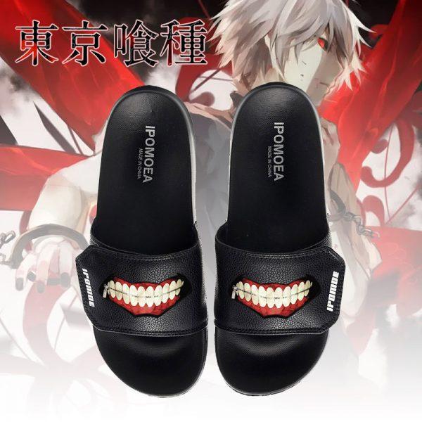 Tokyo Ghoul Cosplay Shoes Slippers Kaneki Ken Men Women Flip Flops Casual Summer Chaussures - Tokyo Ghoul Merch Store