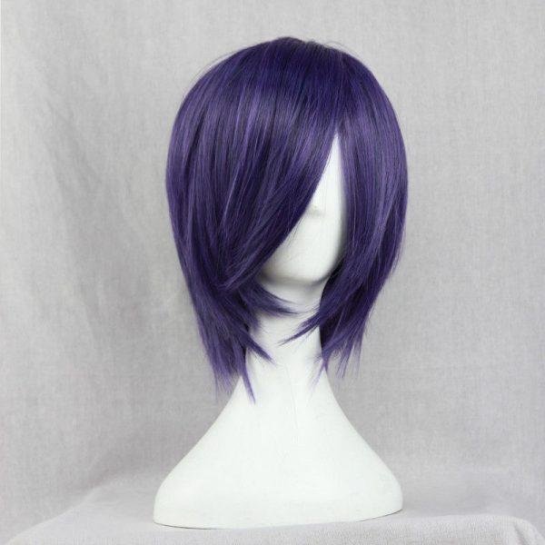 Anime Tokyo Ghoul Touka Kirishima Wig Kirishima Toka Short Purple Hair Halloween Party Cosplay Wigs Wig 1 - Tokyo Ghoul Merch Store