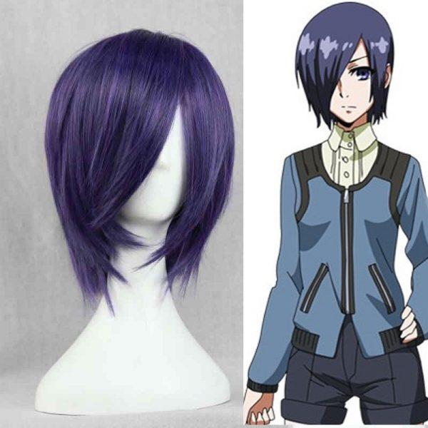 Anime Tokyo Ghoul Touka Kirishima Wig Kirishima Toka Short Purple Hair Halloween Party Cosplay Wigs Wig - Tokyo Ghoul Merch Store