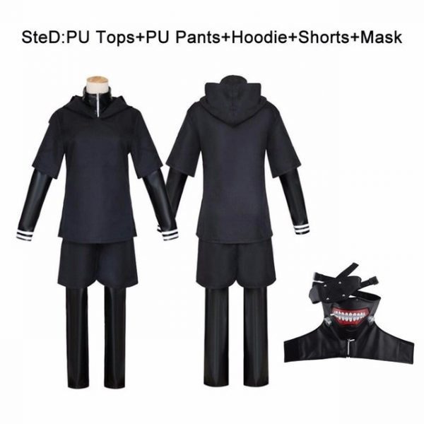 JP Anime Tokyo Ghoul Ken Kaneki Cosplay Costume Full Set Black Leather Fight Uniform Women Men 1.jpg 640x640 1 - Tokyo Ghoul Merch Store