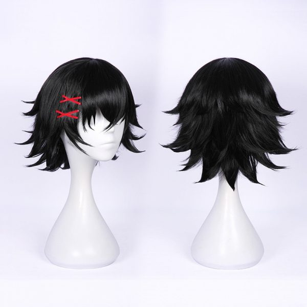 Tokyo Ghoul re Juzo Suzuya Juuzou Short Black Heat Resistant Hair Cosplay Costume Wig Wig Cap 1 - Tokyo Ghoul Merch Store