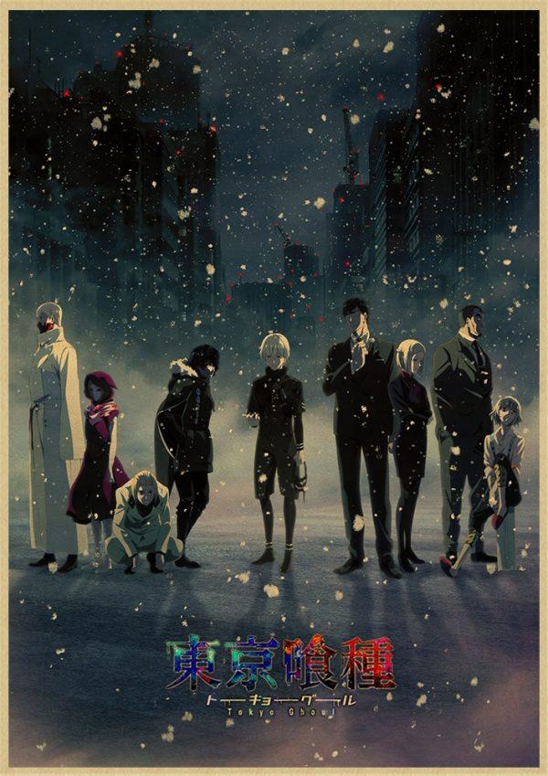 Tokyo Ghoul Poster -  Vintage Retro Kraft Poster