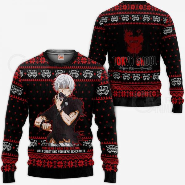 Ken Kaneki Ugly Christmas Sweater Tokyo Ghoul Xmas Gift Idea VA11Official Tokyo Ghoul Merch