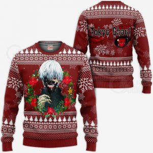 Ken Kaneki Cool Ugly Christmas Sweater Tokyo Ghoul Gift Idea VA11Official Tokyo Ghoul Merch