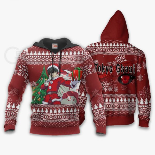 Ken Kaneki Santa Ugly Christmas Sweater Tokyo Ghoul Anime Xmas VA11Official Tokyo Ghoul Merch