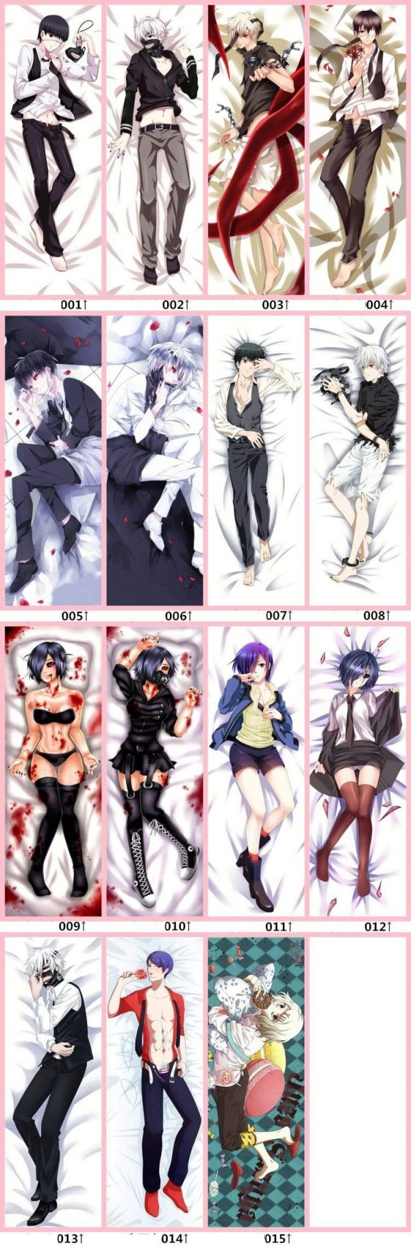 Rize Body Pillow, Tokyo Ghoul Anime DakimakuraOfficial Tokyo Ghoul Merch