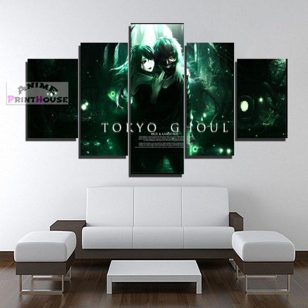 Tokyo Ghoul Canvas Prints , Kaneki & RiezeOfficial Tokyo Ghoul Merch