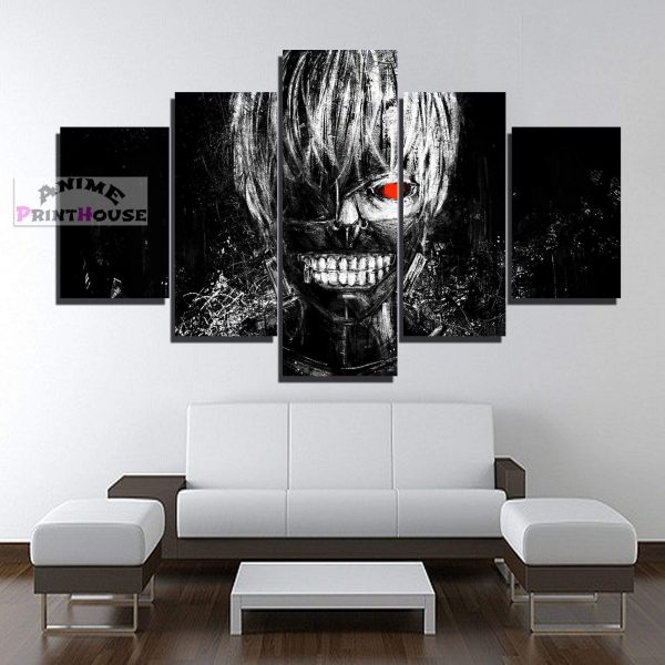 Tokyo Ghoul Kaneki Ken 1 to 5 Pieces Canvas PrintOfficial Tokyo Ghoul Merch