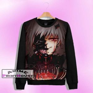 Tokyo Ghoul Ken Kaneki Sweater | Full Color One Side PrintOfficial Tokyo Ghoul Merch