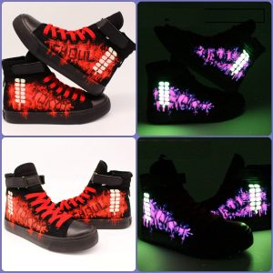 Tokyo Ghoul Glowing Shoes | Hand Painted LuminousOfficial Tokyo Ghoul Merch
