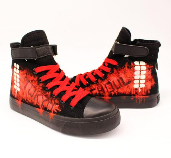 Tokyo Ghoul Glowing Shoes   Hand Painted LuminousOfficial Tokyo Ghoul Merch