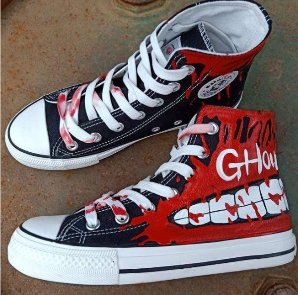 Tokyo Ghoul Shoes High Top Canvas Anime ShoesOfficial Tokyo Ghoul Merch