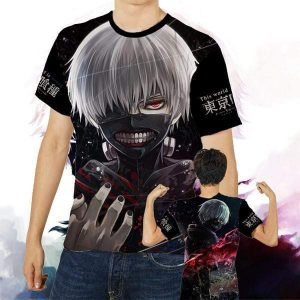 Tokyo Ghoul Double Side Print Milk Silk Fabric T-ShirtOfficial Tokyo Ghoul Merch