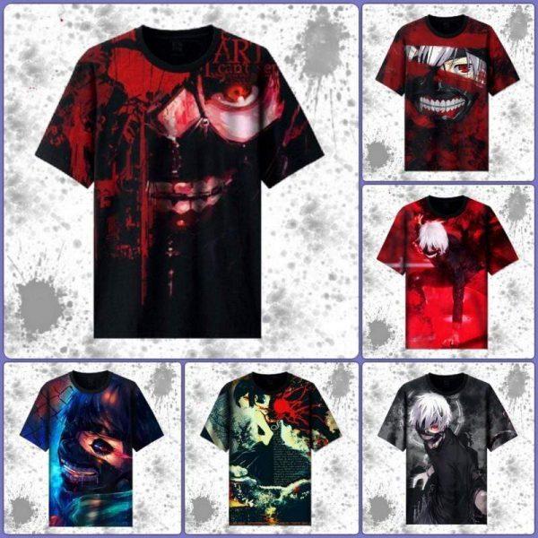 Tokyo Ghoul Full Color Printed T-ShirtOfficial Tokyo Ghoul Merch