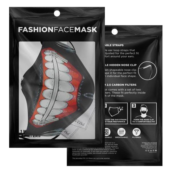 kanekis mask v1 premium carbon filter face mask 386758 1 - Tokyo Ghoul Merch Store