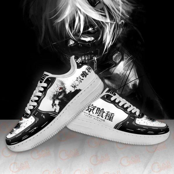 Tokyo Ghoul Black & White Ken Kaneki Air Force ShoesOfficial Tokyo Ghoul Merch