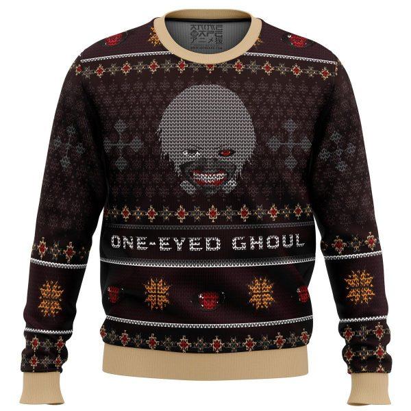 ken kaneki one eyed ghoul tokyo ghoul premium ugly christmas sweater 112717 1 - Tokyo Ghoul Merch Store