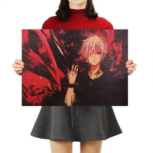 Tokyo Ghoul Poster Vintage Kraft Paper Wall Sticker 51.5X36cmOfficial Tokyo Ghoul Merch