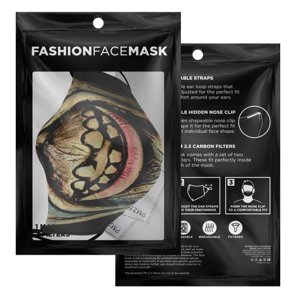 scary face zombie tokyo ghoul premium carbon filter face mask 214581 1 - Tokyo Ghoul Merch Store