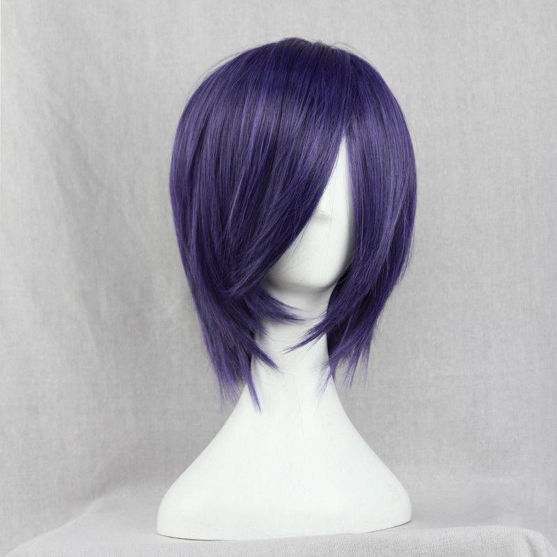 Tokyo Ghoul Cosplay - Touka Kirishima Wig, Short Purple Hair
