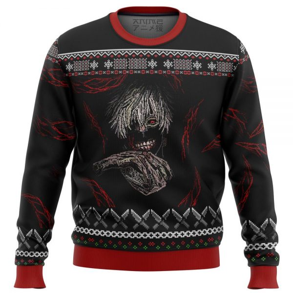 tokyo ghoul dark kaneki premium ugly christmas sweater 709892 1 - Tokyo Ghoul Merch Store