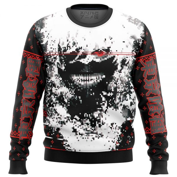 tokyo ghoul kaneki splatter premium ugly christmas sweater 251182 1 - Tokyo Ghoul Merch Store
