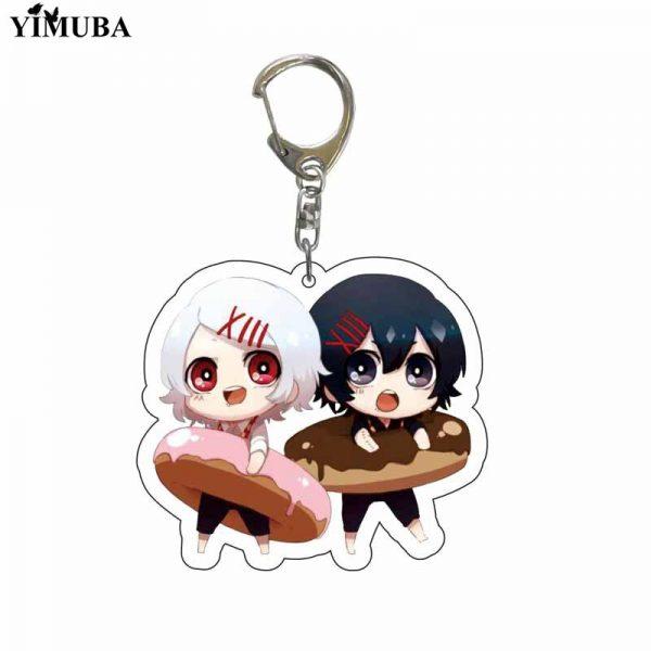 Japan Anime Tokyo Ghoul Keychain Lovely Kaneki Ken Figure Acrylic Pendant Key Chain Cartoon Character Key 5 - Tokyo Ghoul Merch Store