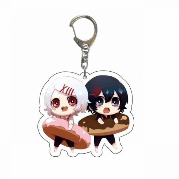 Japan Anime Tokyo Ghoul Keychain Lovely Kaneki Ken Figure Acrylic Pendant Key Chain Cartoon Character - Tokyo Ghoul Merch Store