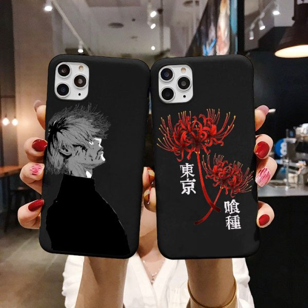 Japanese anime Tokyo Ghoul Japan Suave TPU Phone Case For iPhone XR X XS 11 12 - Tokyo Ghoul Merch Store