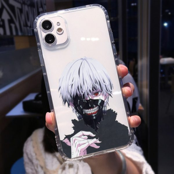 Soft Clear Shockproof Phone Case for IPhone 13 XR X XS 12 11 Pro Max 7 9.jpg 640x640 9 - Tokyo Ghoul Merch Store