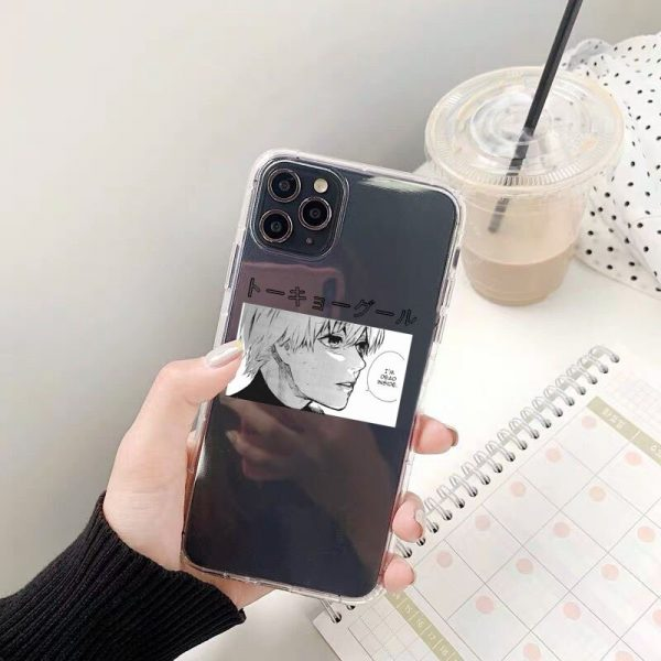 Tokyo Ghoul Kaneki Ken Clear Phone Case For iPhone 11 Pro Max 12 XS 8 7 1 - Tokyo Ghoul Merch Store