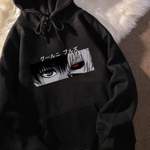 Tokyo Ghoul Kaneki Ken Eyes Japan Anime Print Pullovers Hoodie Loose Hip Hop Sweatshirt Punk Streetwear - Tokyo Ghoul Merch Store
