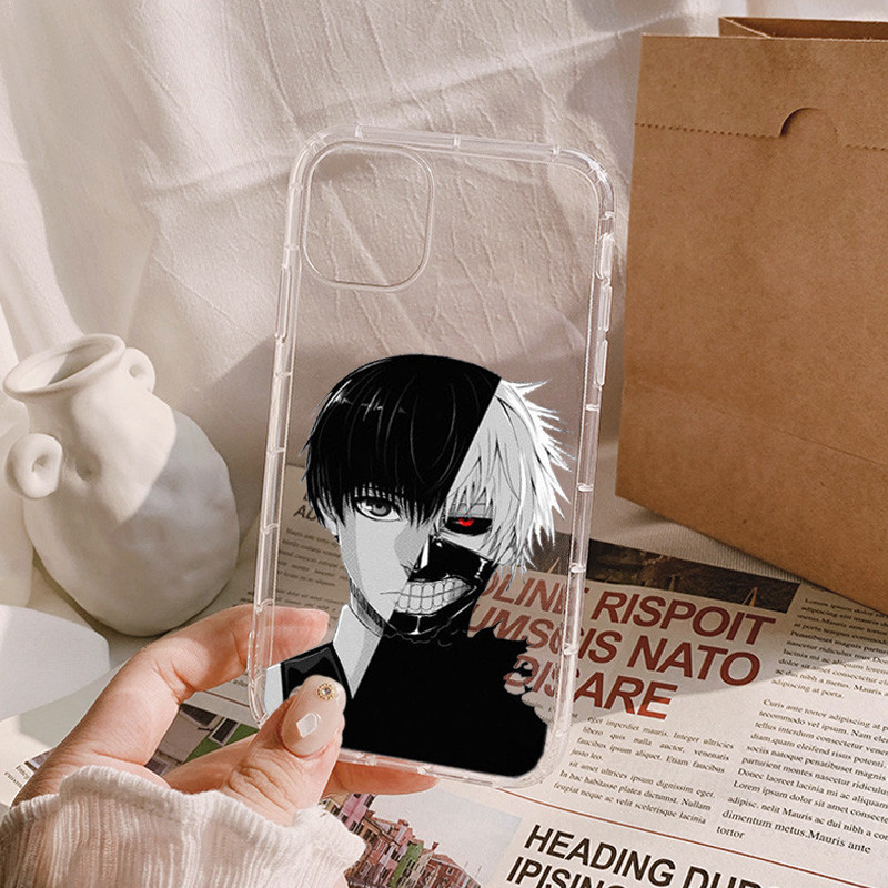 Soft Clear Shockproof Phone Case for IPhone 13 XR X XS 12 11 Pro Max 7 8 6 6S Plus SE2 Japan Anime Tokyo Ghoul Suave Cover Coque