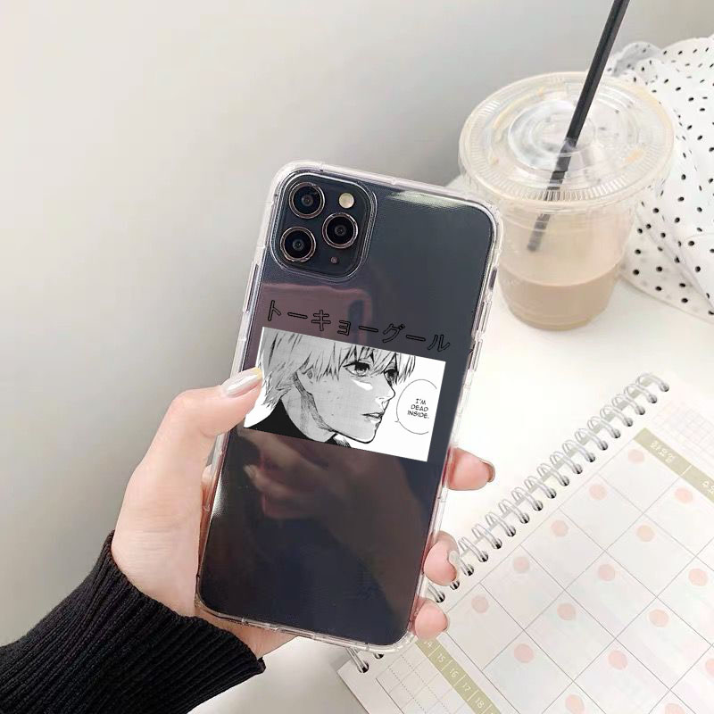 Tokyo Ghoul Kaneki Ken Clear Phone Case For iPhone 11 Pro Max 12 XS 8 7 6Plus13 X SE20 XR Japan Anime Soft Silicone Cover Fundas
