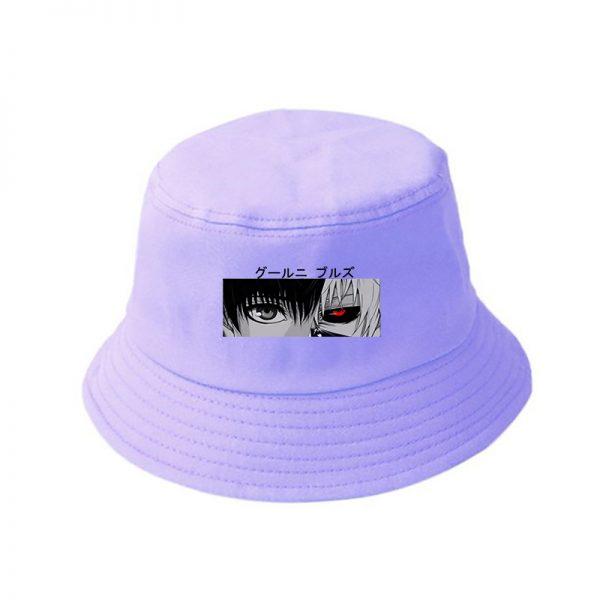 Tokyo Ghoul Kaneki Ken Eyes Anime Print Summer Hat Women Men Panama Bucket hat Cap The Design Flat Visor Harajuku Fisherman Hat